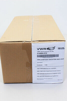 "New VWR Symphony Rack for 3"" Box Stainless Freezer/Incubator Storage, 414004-212"