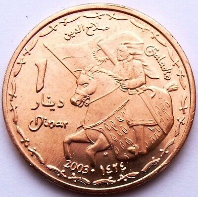 Kurdistan Iraq 1 Dinar 2003 Ah1424 Saladin On Horse Very Rare Coin 4700 Mintage