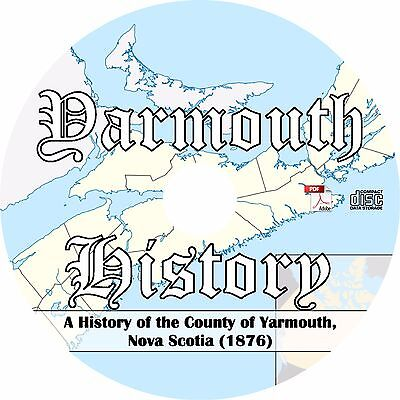 1876 Campbell's History of Yarmouth, Nova Scotia - History Genealogy Book on CD