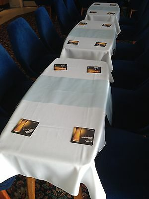 Rectangle Fabric Tablecloths for Small pub tables (polyester not cotton)