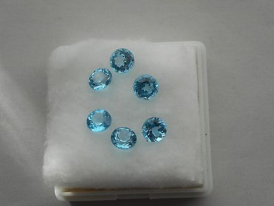 swiss blue topaz loose gemstone,size 6mm round cut £8.99p each.