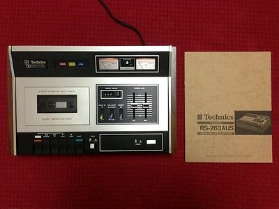 Vintage Technics stereo cassette deck RS-263AU in SUPERB Condition + Manuals