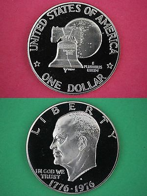 1976-S Type 2 Proof Eisenhower Dollar Deep Cameo Flat Rate Shipping