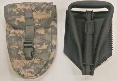 NEW Military US Issue GI Trifold Shovel Entrenching Etool USGI WITH ACU COVER