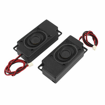 2Pcs 70mm x 33mm Plastic Shell 2-Leads Audio Speaker Black 8 Ohm 2W