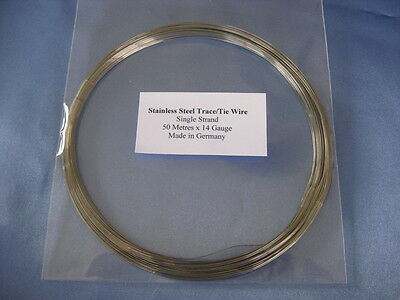 STAINLESS STEEL TRACE/TIE WIRE X 50 METRES - 45Kg x .50mm (TW14)