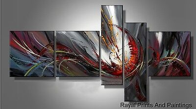 Multicolor Oil Painting With Grey Base| Framed |Home Office Decor |Abstract Art