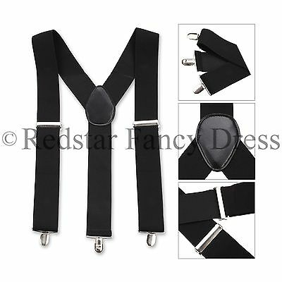 Mens 35Mm Wide Adjustable Braces Gents Elastic Accessory Work