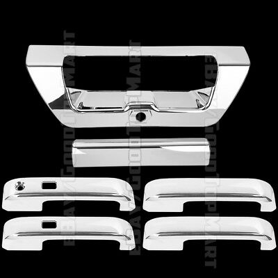 For Ford F150 2015 2016 2017 Chrome Covers Set 4 Doors SMART + Tailgate CAMERA