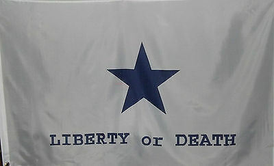 Texas Goliad Battle Flag - Liberty Or Death - Tx Independence Heroes - Republic