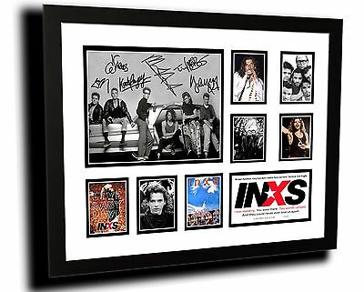 Inxs Michael Hutchence Signed Limited Edition Framed Memorabilia