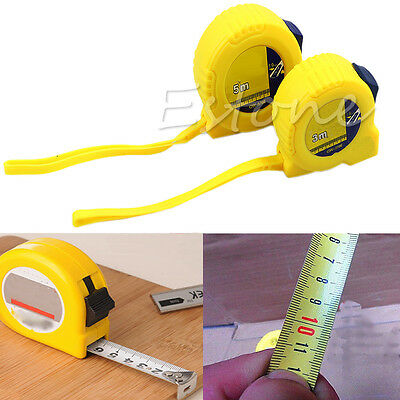Accurate Retractable Steel Ruler Tape Measure Sewing Cloth Metric Tailor Tools