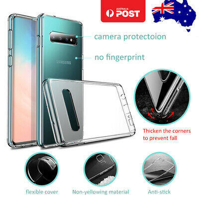 Samsung Galaxy S6 Edge Plus Clear Soft TPU Silicone Protective Back Cover Case