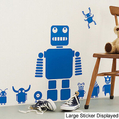Toy Robots - Pack of 10 - Wall Stickers Girls Boys Children Transfer Mural Decal