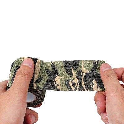 Roll 5CMx4.5M Army Camo Waterproof Wrap Hunting Camping Camouflage Stealth Tapes