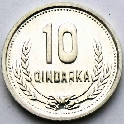 Albania 10 Qindarka 1988 - Rare Coin Unc Condition - Al