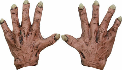 Morris Costumes Monsters Flesh Latex Hands Gloves One Size. TB25356