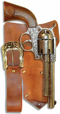 Morris Costumes New Realistic Sized Metal Big Tex Leather Holster Set Prop. BF61