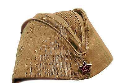 Soviet Russian Ussr Army Pilotka Military Uniform Field Hat Red Star! Size S-Xl!