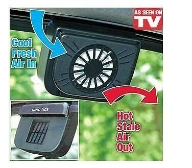 Solar Powered Heat Window Fan Ventilator Auto Cool Pet Air Vent Car Van  Ac16