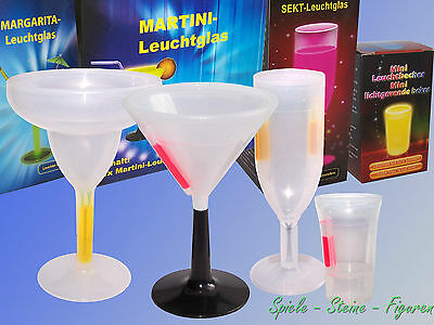 Luminoso Cocktail Vetro, 17cm Altezza Martini Lampada Luminosi, Party Vetro