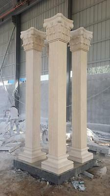 Beautiful Hand Carved Marble Estate Columns - Mc968
