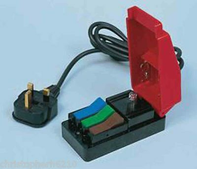 Cliff Quicktest Mains Connector PAT Testing Desk Block with 1.5m Lead & 13A Plug
