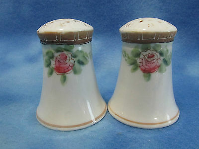 Antique Nippon Porcelain Handpainted Salt and Pepper Shakers