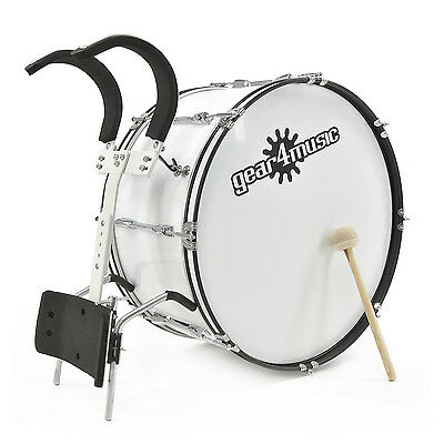"""New 24"""" X 12"""" Marching Bass Drum with Carrier, by Gear4music"""