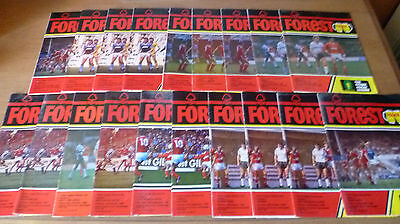 19x- Nottingham Forest Home Programmes, 1985/86.