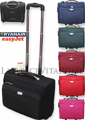 VALIGIA TROLLEY BAGAGLIO A MANO Pilota Business Pc RYANAIR EASY JET LOW COST
