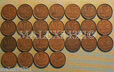 🇨🇦Canada Nice 1937 To 1960 Set Of 1 Cent (25 Coins)