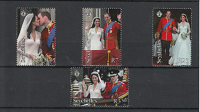Seychelles 2011 MNH Royal Wedding 4v Set Prince William Catherine Middleton