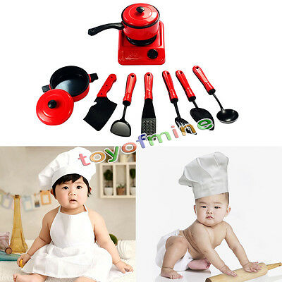 Child Kid Plastic Kitchen Ware Cooking Pretend Play Toy Cooker Pan Turner Safe