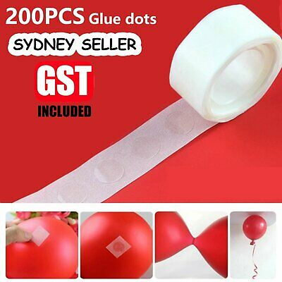 100x Balloon Glue 15mm Dots Photo Adhesive Bostik Party Double tape Scrapbooking