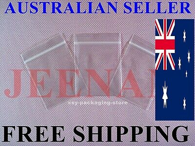 300 Small ZipLock Zip Lock Plastic Resealable Plastic Bag 40MMX50MM + FREE SHIP