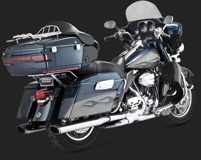 Vance & Hines TWIN SLASH OVAL SLIP-ON TOURING 95-15