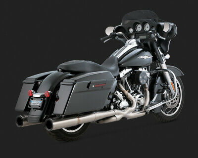 Vance & Hines STAINLESS HI-OUTPUT DUALS TOURING 09-15