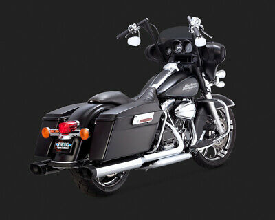 Vance & Hines MONSTER OVALS WITH BLACK TIP TOURING 95-15