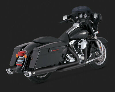 Vance & Hines MONSTER OVALS BLACK WITH CHROME TIP TOURING 09-15