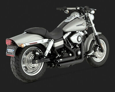 Vance & Hines SHORT SHOTS STAGGERED BLACK DYNA 06-11
