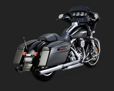 Vance & Hines TWIN SLASH ROUND SLIP-ON TOURING 95-15