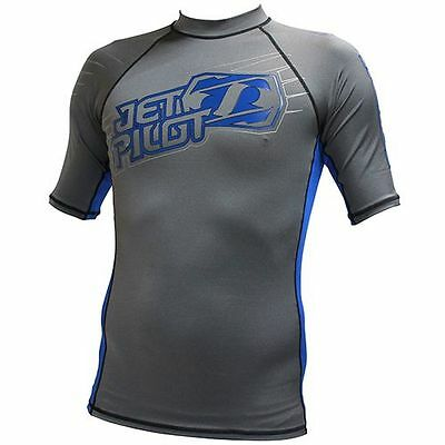 Rash Guard - Lycra Jet Pilot Corpo S/S Charcoal Blue - confortable -chaud - PWC
