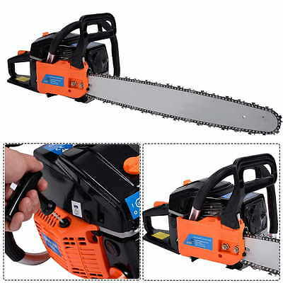 """Heavy Duty 22"""" Petrol Chainsaw Bar Saw Cutter Chain & Cover 2.0Kw Tool Kit"""