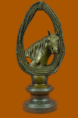 Handcrafted bronze sculpture SALE Base Marble Bust Lover Horse Trophy Deco Art