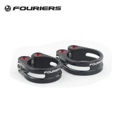 1pcs Fouriers CNC Alloy MTB Road Seatpost Clamp 31.8 34.9mm Collar Fixed Black