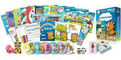 Cantonese for Kids Deluxe set, Cantonese learning DVDs, Books, Flashcards