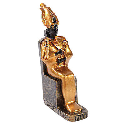 Osiris Small Figurine Ancient Egyptian God Afterlife Underworld Statue Sitting