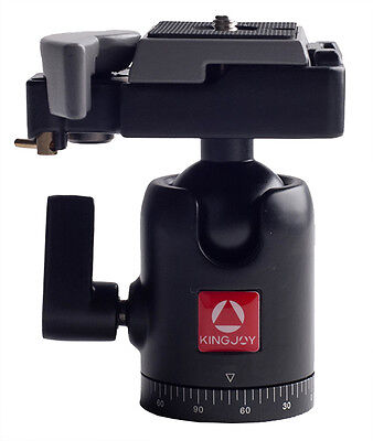 "Kingjoy QB-30 Swivel Tripod Ball Head with Quick Release Plate DSLR 1/4"" Screw"