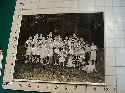 vintage 8 x 10 Photo from 1940's/50's LONG ISLAND:KIDS PICNIC PHOTO